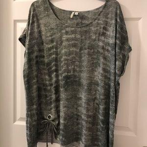 Cato dusty green short sleeve shirt sz W26/28